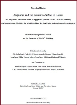 Augustus and the Campus Martius. FORTVNA PAPERS II, ISBN: 978-3-943872-13-2)